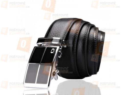 Luxusní kožený pánský pásek - černý