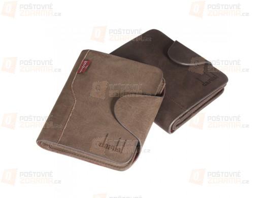 Pánská kožená peněženka ve 2 barvách