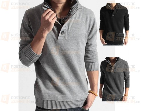 Pánský svetr - 3 barvy, 4 velikosti