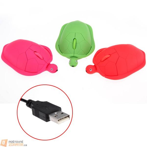 Optická myš ve tvaru želvičky - na výběr ze 3 barev