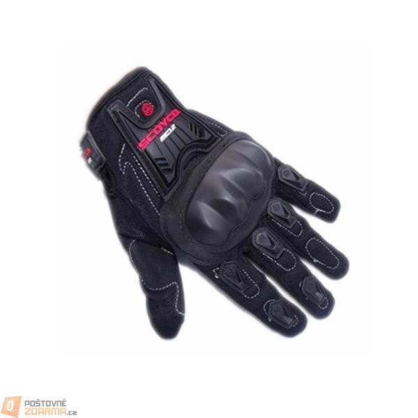 Motocyklistické rukavice - černé ve 3 velikostech