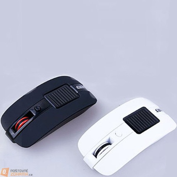 Optická bezdrátová myš na solární energii ve 2 barvách