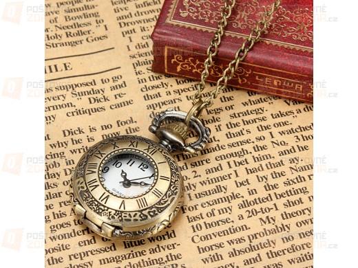 Vintage hodinky na řetízku - tři provední