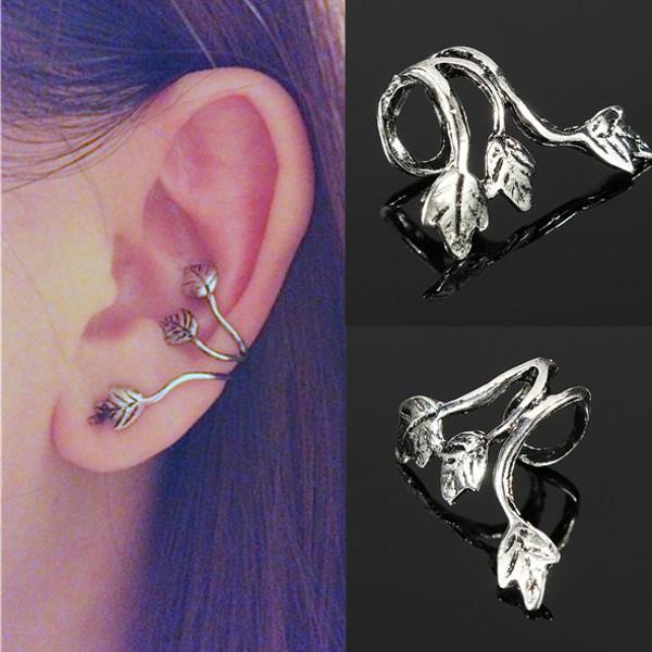 Náušnice na ucho s lístečky