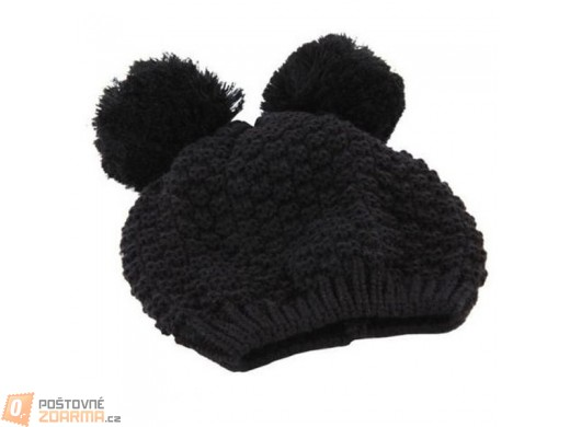 Zimní čepice Mickey ouška