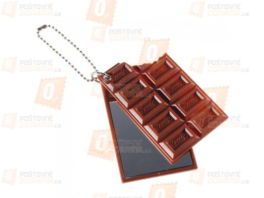 Přívěsek na klíče se zrcátkem - ve tvaru čokolády
