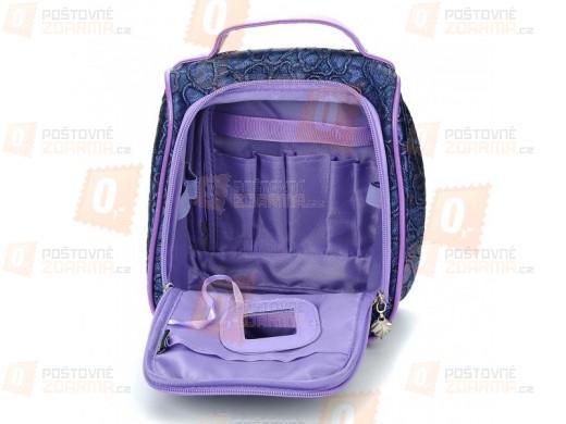 Fialová cestovní kosmetická taška