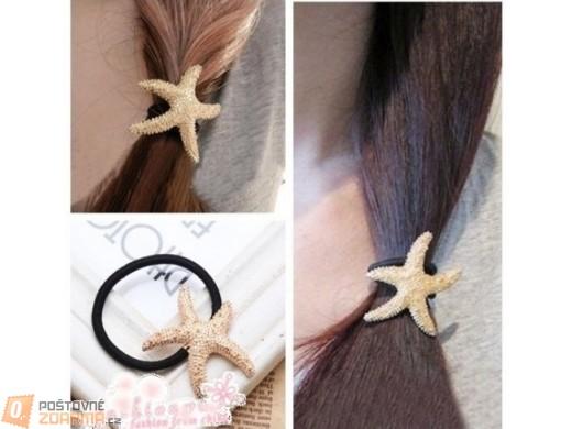 Gumička do vlasů s mořskou hvězdicí