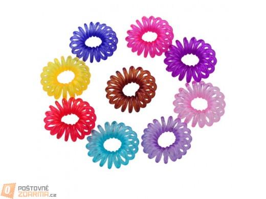 Barevné gumičky ve tvaru telefonního drátu