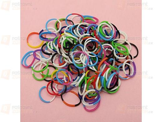 600 kusů gumiček - různé barvy