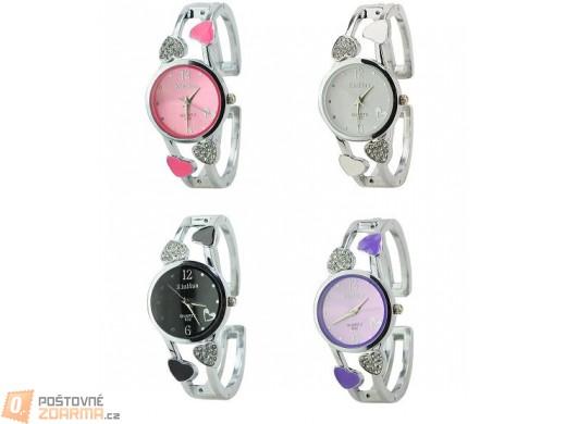 Elegantní dámské hodinky se srdíčky - na výběr ze čtyř barev
