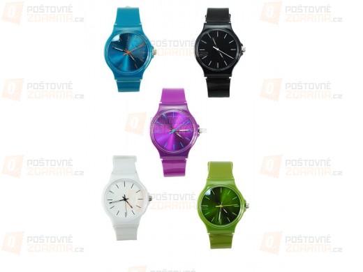 Barevné silikonové hodinky - unisex