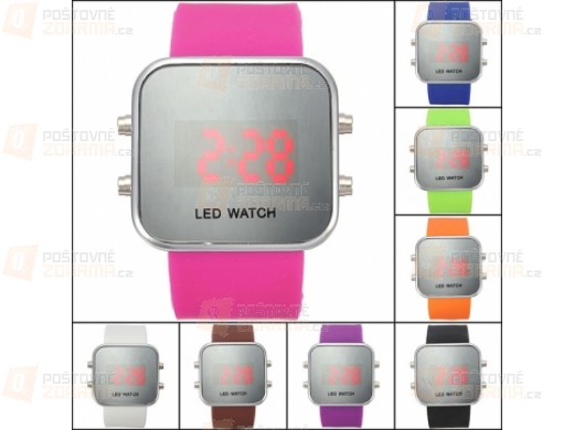 Zrcadlové LED hodinky - unisex