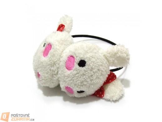 Dětské klapky na uši s motivem králíčka