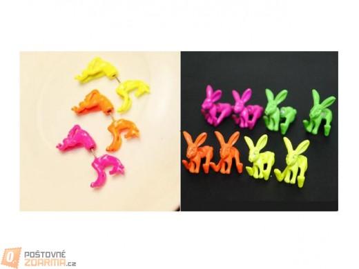 Stylové náušnice ve tvaru koně nebo zajíce - 1ks
