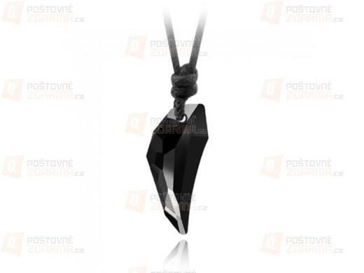 Unisex náhrdelník s černým kamenem