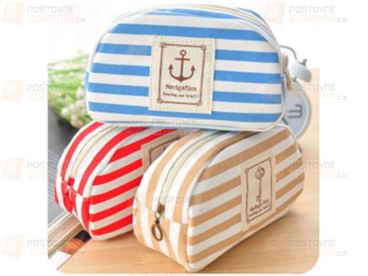 Kosmetická taška s námořnickým motivem - 3 barvy