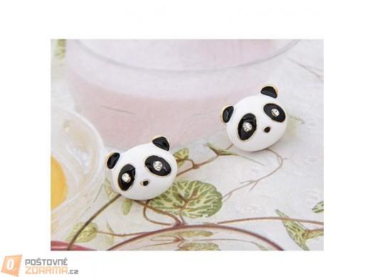 Náušnice s motivem pandy