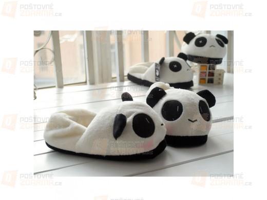 Unisex pantofle s motivem pandy