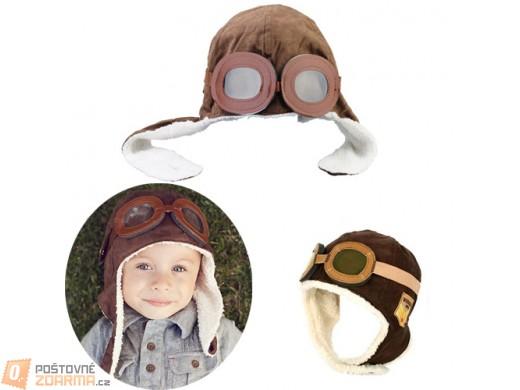 Dětská retro čepice - pilot