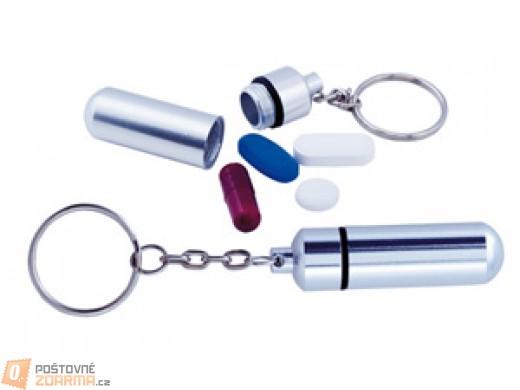 Pouzdro na léky na klíče