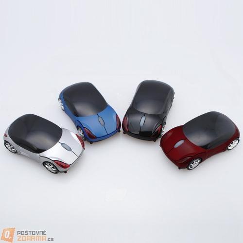 Bezdrátová optická myš ve tvaru autíčka - na výběr ze 4 variant