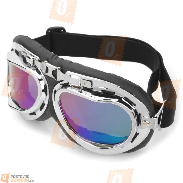 Motorkářské brýle - barevná skla