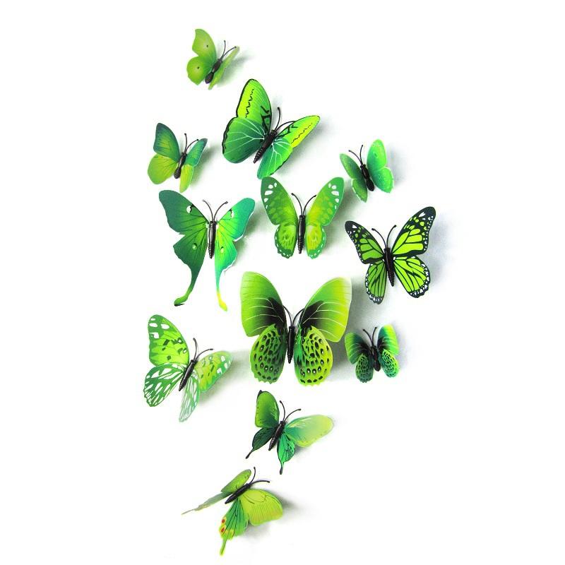 Dekorace v podobě 3D motýlků