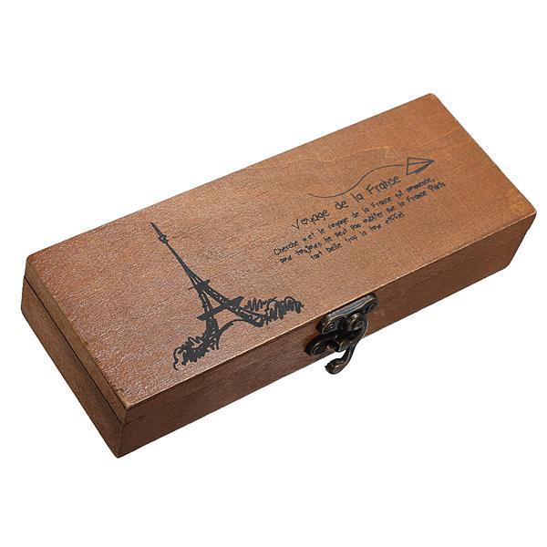 Dřevěná krabička s motivem Eiffelovy věže