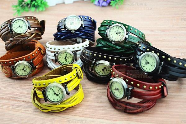 Koženkové hodinky