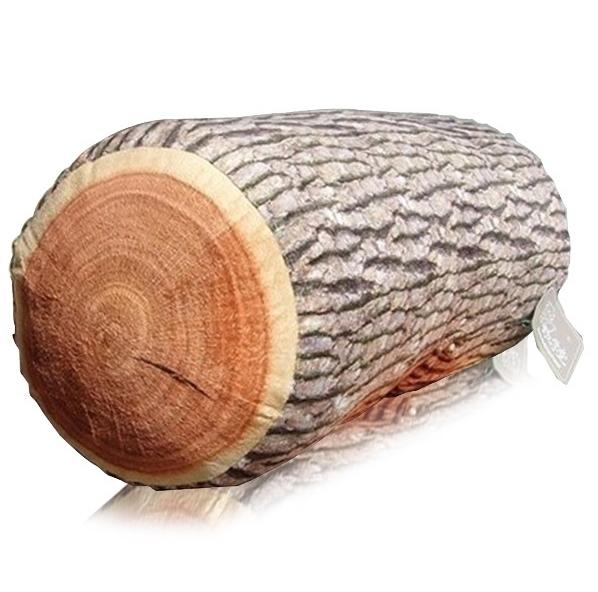 Pohodlný polštář v podobě dřevěného polena - elastická výplň