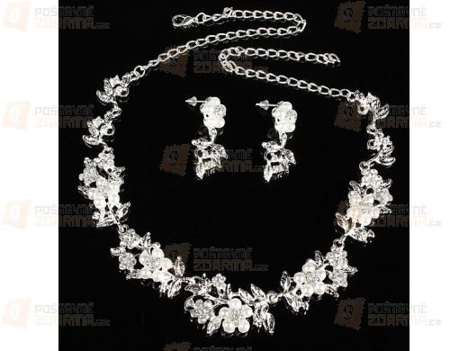 Perličkový set náhrdelníku a náušniček