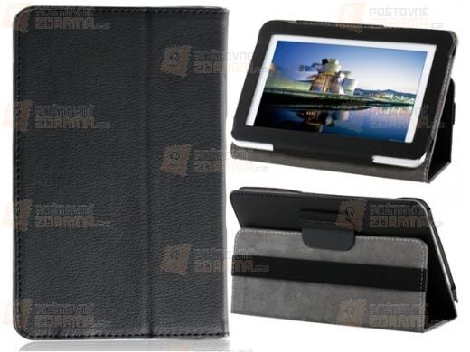 """Ochranné kožené pouzdro pro 7"""" tablet - černá barva"""