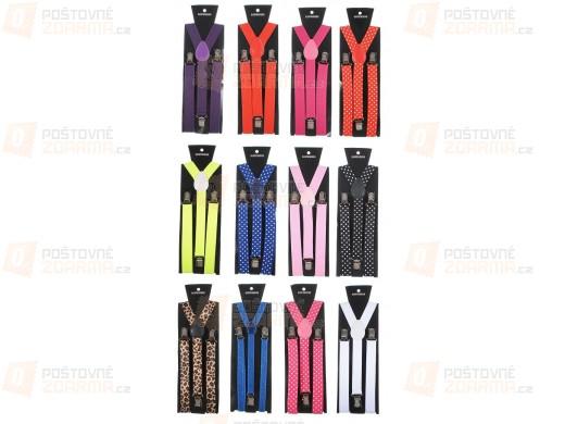 Unisex kšandy ve 20 atraktivních barvách