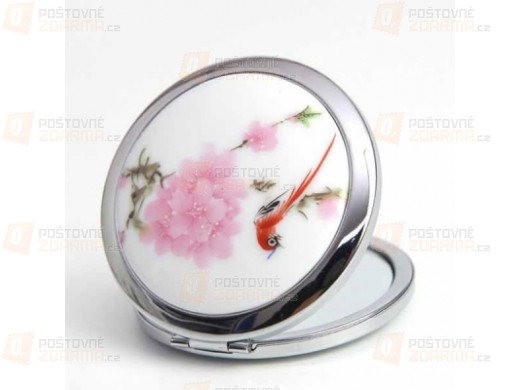 Kapesní zrcátko s designem květin