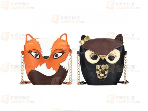 Stylová kabelka - motiv sova či liška